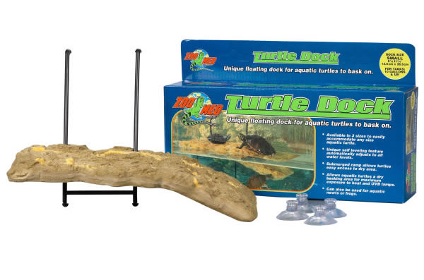Zoo-Med Turtle Dock in front of its box
